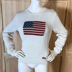 Ralph Lauren Vintage Knit Sweater American flag